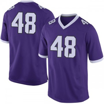 Men's Caleb Biggurs TCU Horned Frogs Nike Limited Purple Football College Jersey