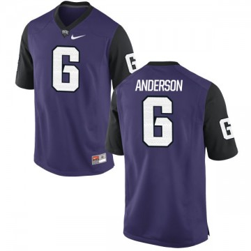 Men's Darius Anderson TCU Horned Frogs Nike Replica Purple Football Jersey -