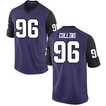 Men's Dennis Collins TCU Horned Frogs Nike Replica Purple Football College Jersey