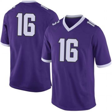 Men's Hidari Ceasar TCU Horned Frogs Nike Limited Purple Football College Jersey
