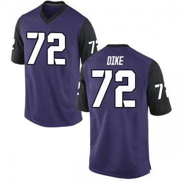 Men's Kris Dike TCU Horned Frogs Game Purple Football College Jersey