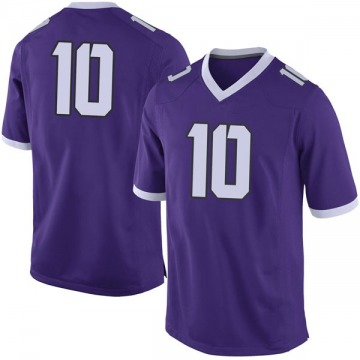 Men's Michael Collins TCU Horned Frogs Nike Limited Purple Football College Jersey