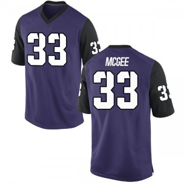 Men's Ryan McGee TCU Horned Frogs Nike Game Purple Football College Jersey