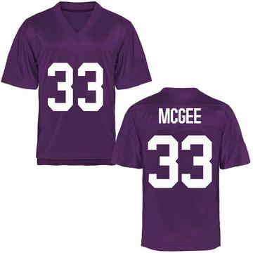 Men's Ryan McGee TCU Horned Frogs Replica Purple Football College Jersey