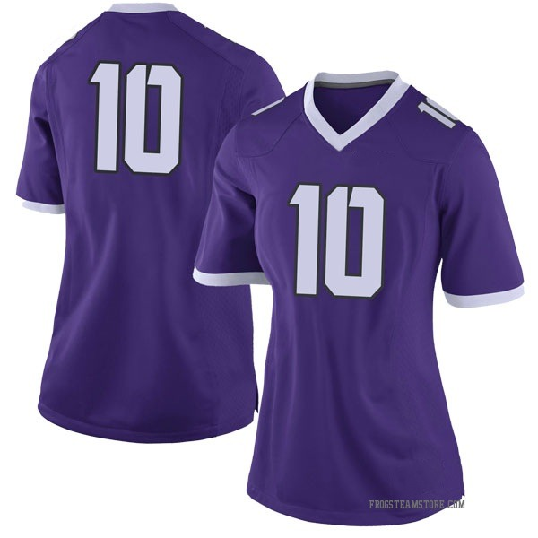 Women's Michael Collins TCU Horned Frogs Nike Limited Purple Football College Jersey