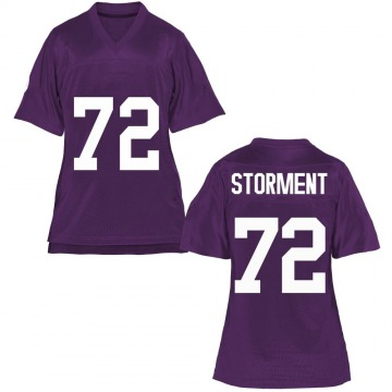 Women's T.J. Storment TCU Horned Frogs Game Purple Football College Jersey