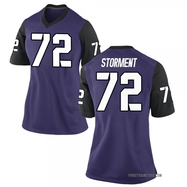 Women's T.J. Storment TCU Horned Frogs Nike Replica Purple Football College Jersey