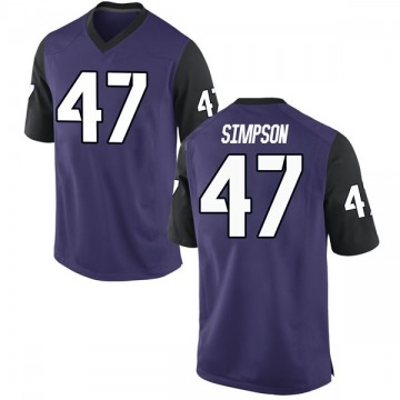Youth Jacoby Simpson TCU Horned Frogs Nike Replica Purple Football College Jersey