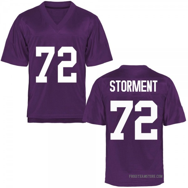 Youth T.J. Storment TCU Horned Frogs Game Purple Football College Jersey